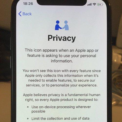 iOS 11.3 Privacy