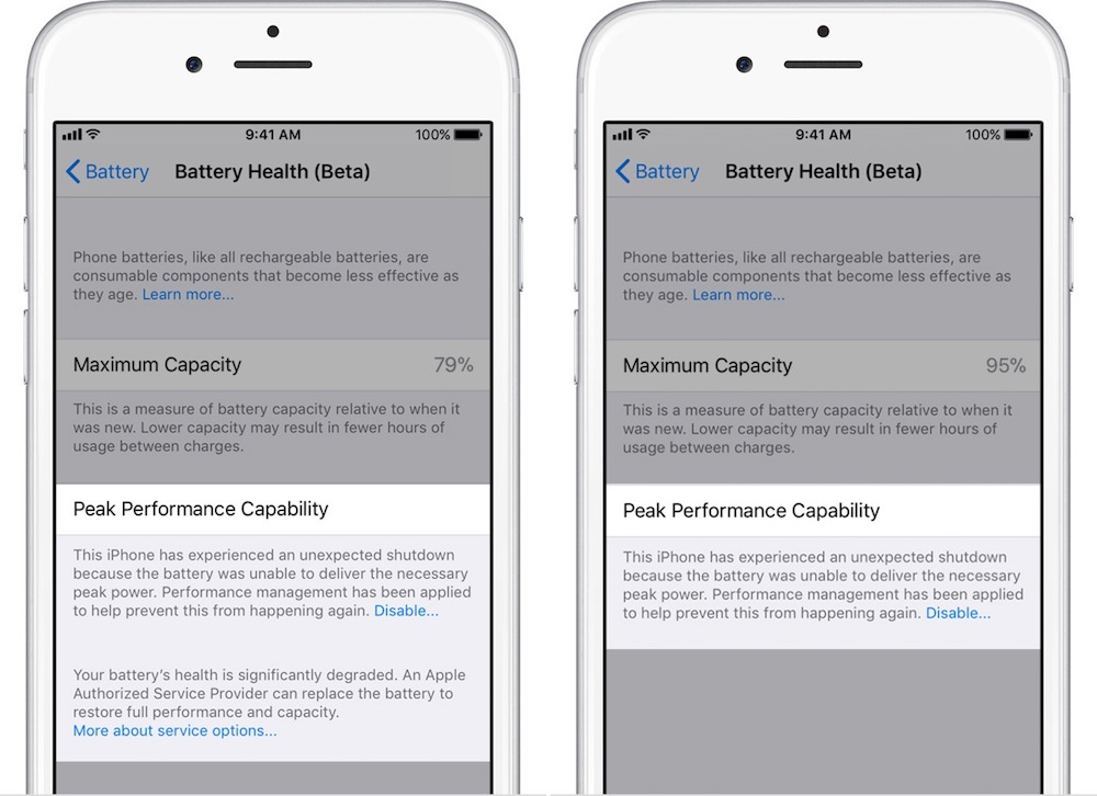 iOS 11.3 iPhone Battery Health Feature 2
