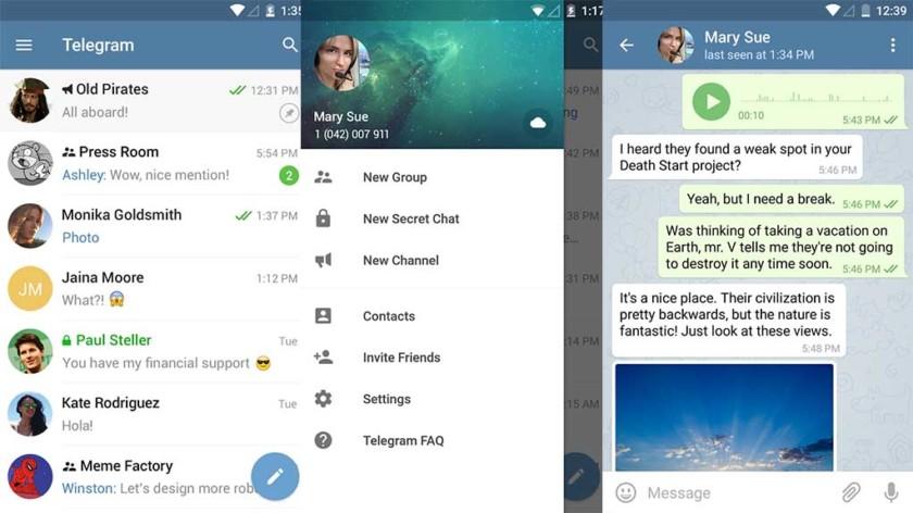 Telegram or Signal Private Messenger