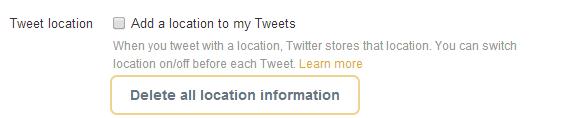Twitter geolocation