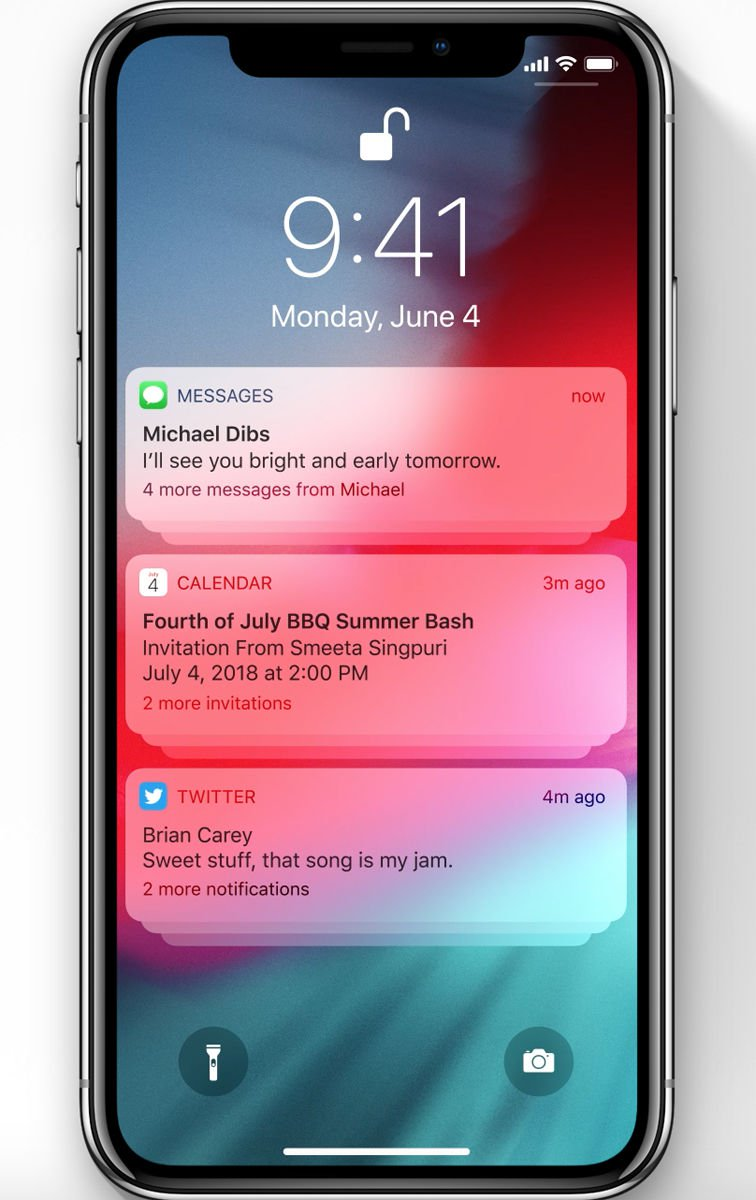 iOS 12 release date & new features: Grouped notifications