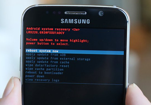 samsung galaxy s6,s7 reboot system