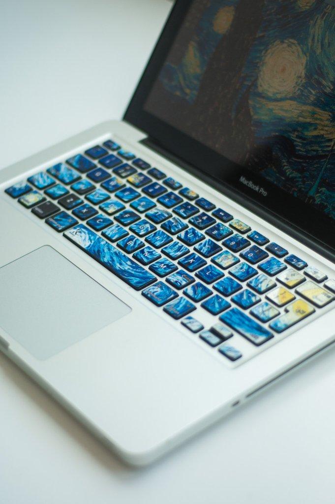 Van Gogh Starry Night keyboard decal