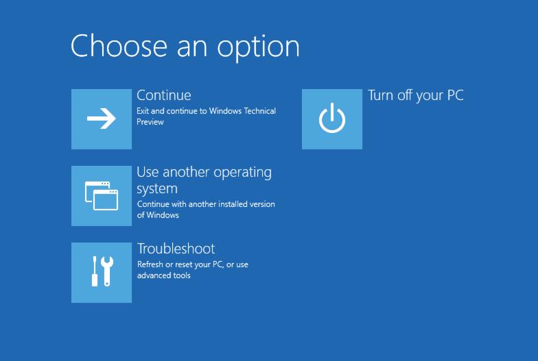 windows boot options menu