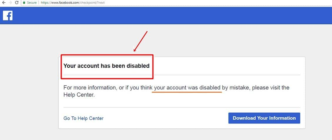 10 Reasons Why Your Facebook Account Is Disabled