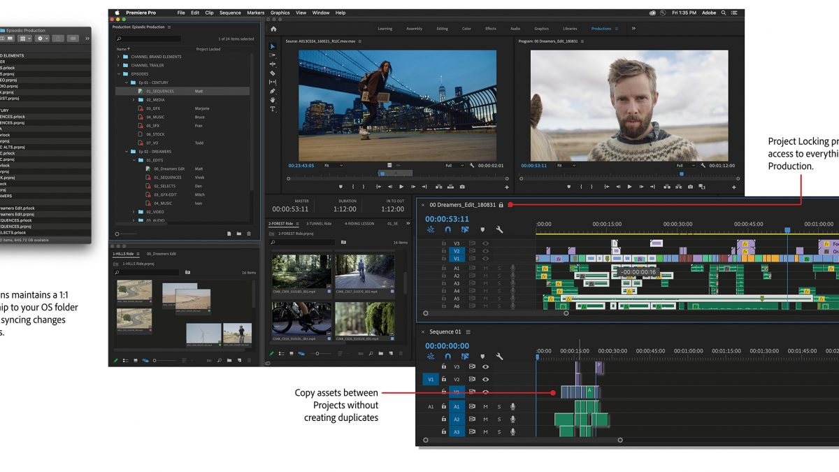 Adobe Releases New Organization Tool For Premiere Pro Called 'Productions'