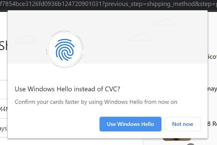 Windows Hello Can Now Be Used To Complete Payments In Google Chrome