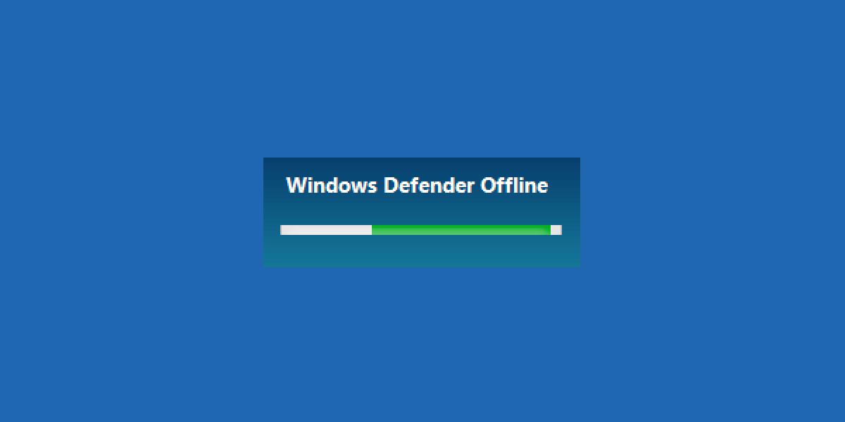 How To Use Windows Defender Offline In Windows 10