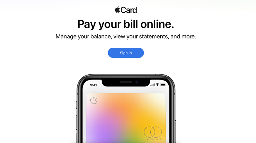 Apple Launches Website For Managing 'Apple Card' Via Browser