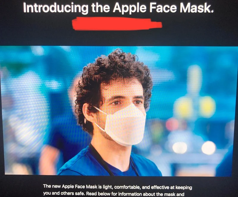 Apple Designs Special Face Masks For Employees
