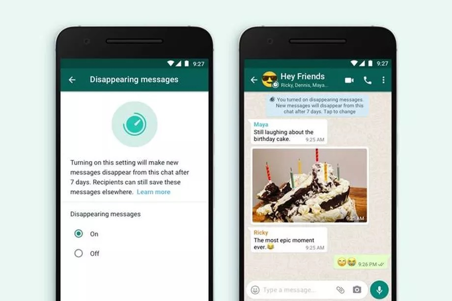 WhatsApp Introduce New Disappearing Messages Option