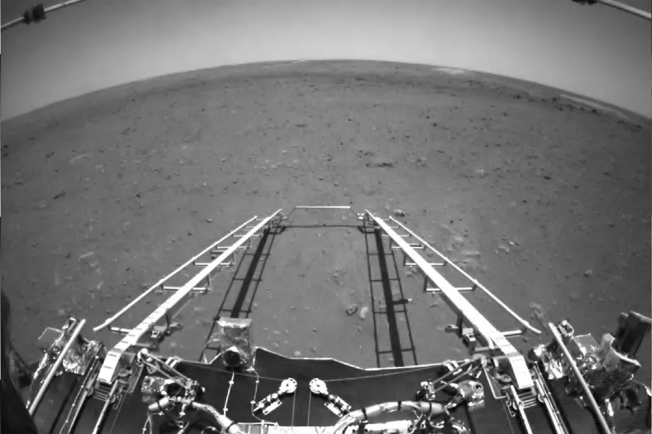 China Releases First Images Taken By Martian Rover Zhurong
